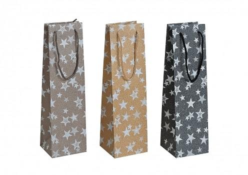 Vánoční taška  - Star černá Barva