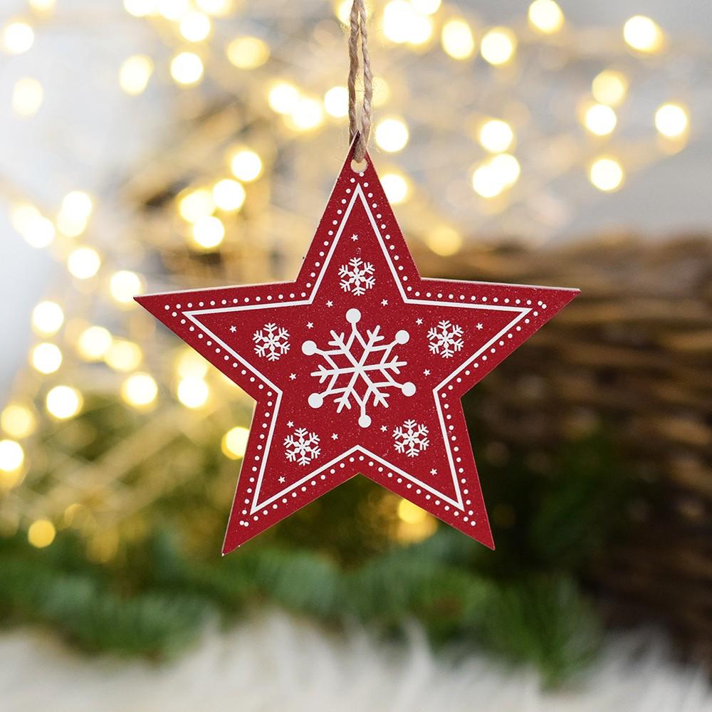 HOUSEDECOR Hvězda - bílá červená