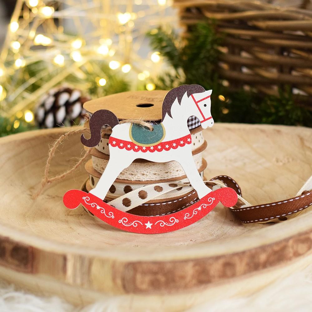 HOUSEDECOR Vánoční koník - bílý