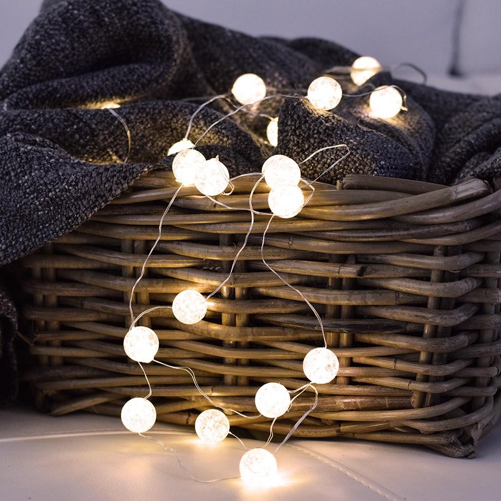 LED řetěz - Silver ball