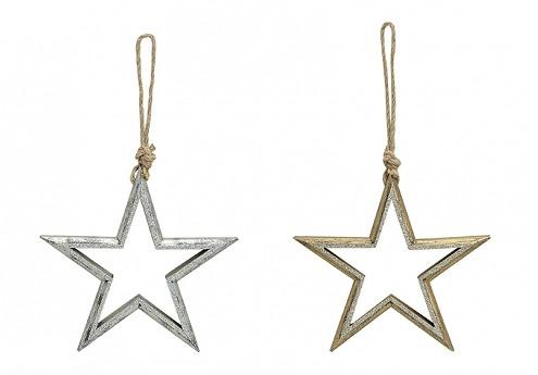 Závěsná hvězda zlatá/sříbrná