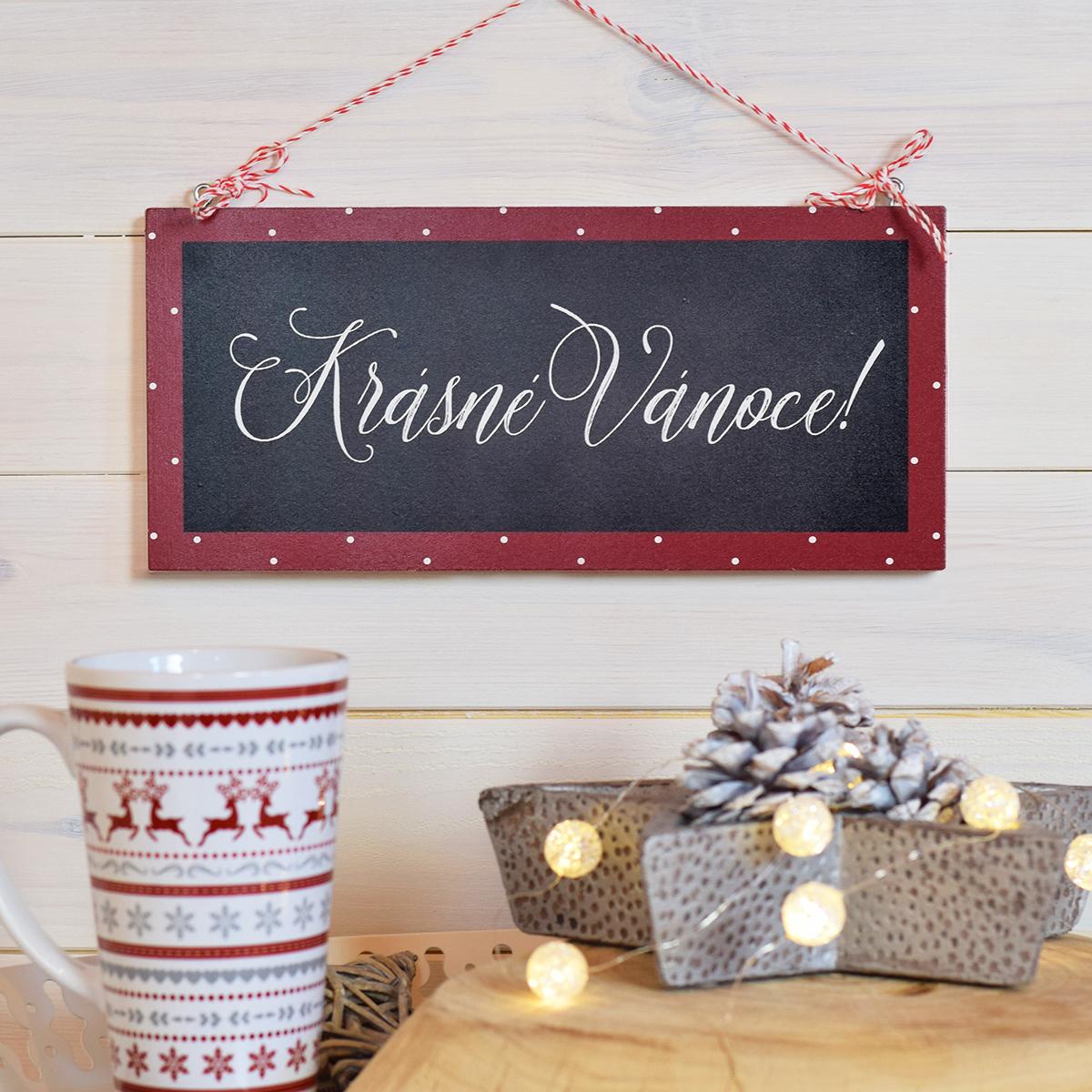 HOUSEDECOR Cedulka - Krásné Vánoce