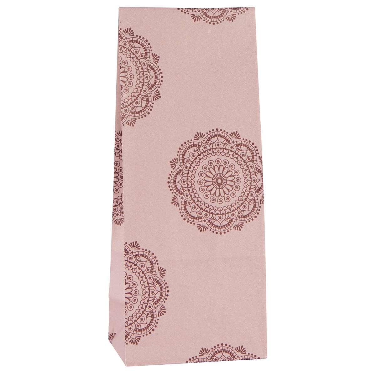 Dárková taška se vzorem - růžová