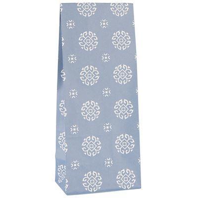 Dárková taška se vzorem - modrá