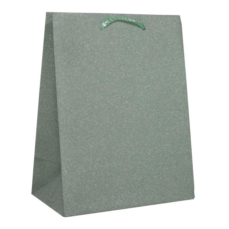 Taška glitter velká - světle zelená