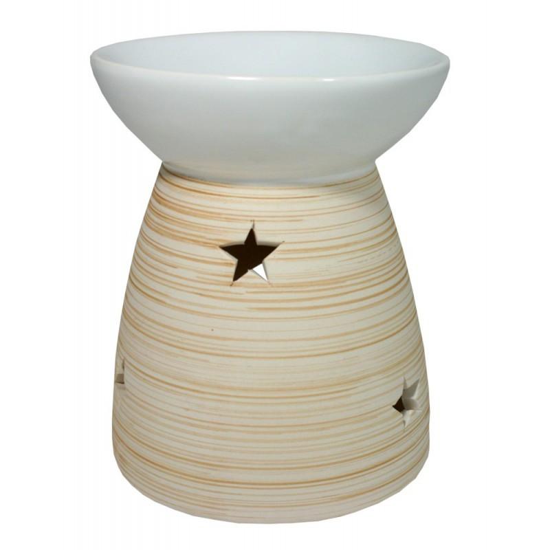 Aroma lampa motiv dřevo - bílá