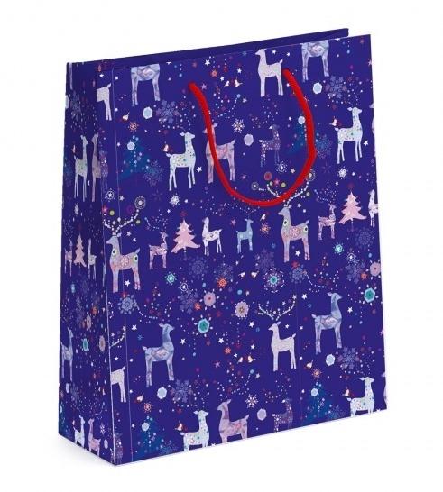 Dárková taška se sobíky střední - modrá