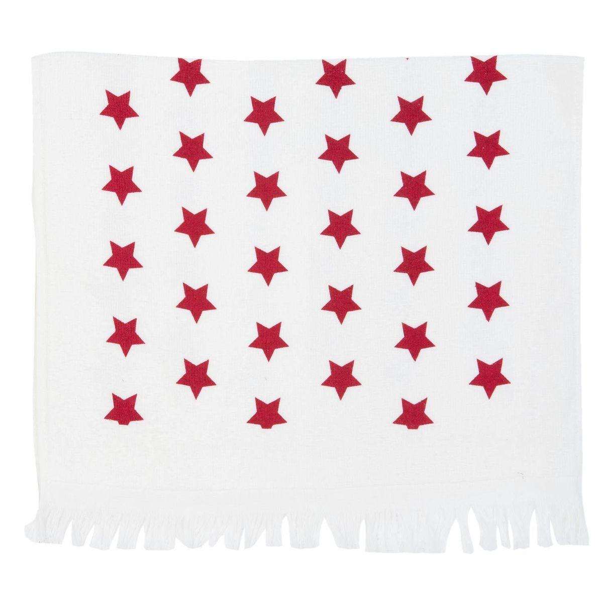 Utěrka s červenými hvězdami