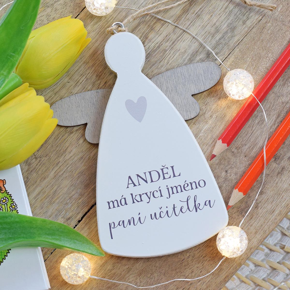 KIDIDESIGN Anděl pro paní učitelku