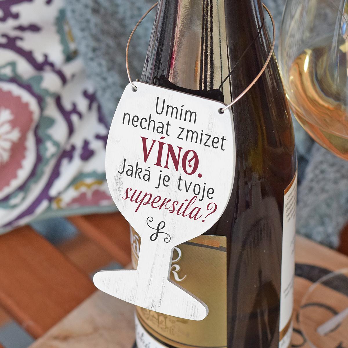 HOUSEDECOR Cedulka na víno - Moje supersíla