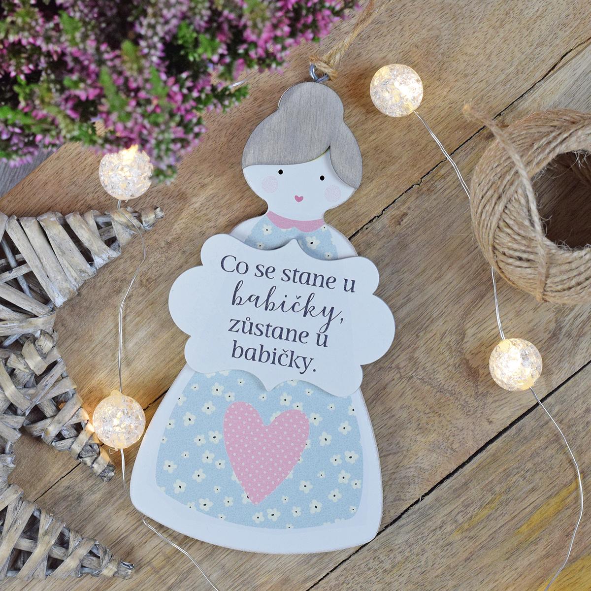 HOUSEDECOR Babička - dekorace na zavěšení