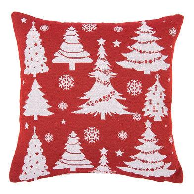 Polštář vánoční -červený