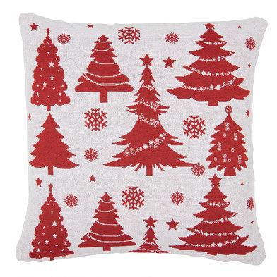Polštář vánoční -  bílý