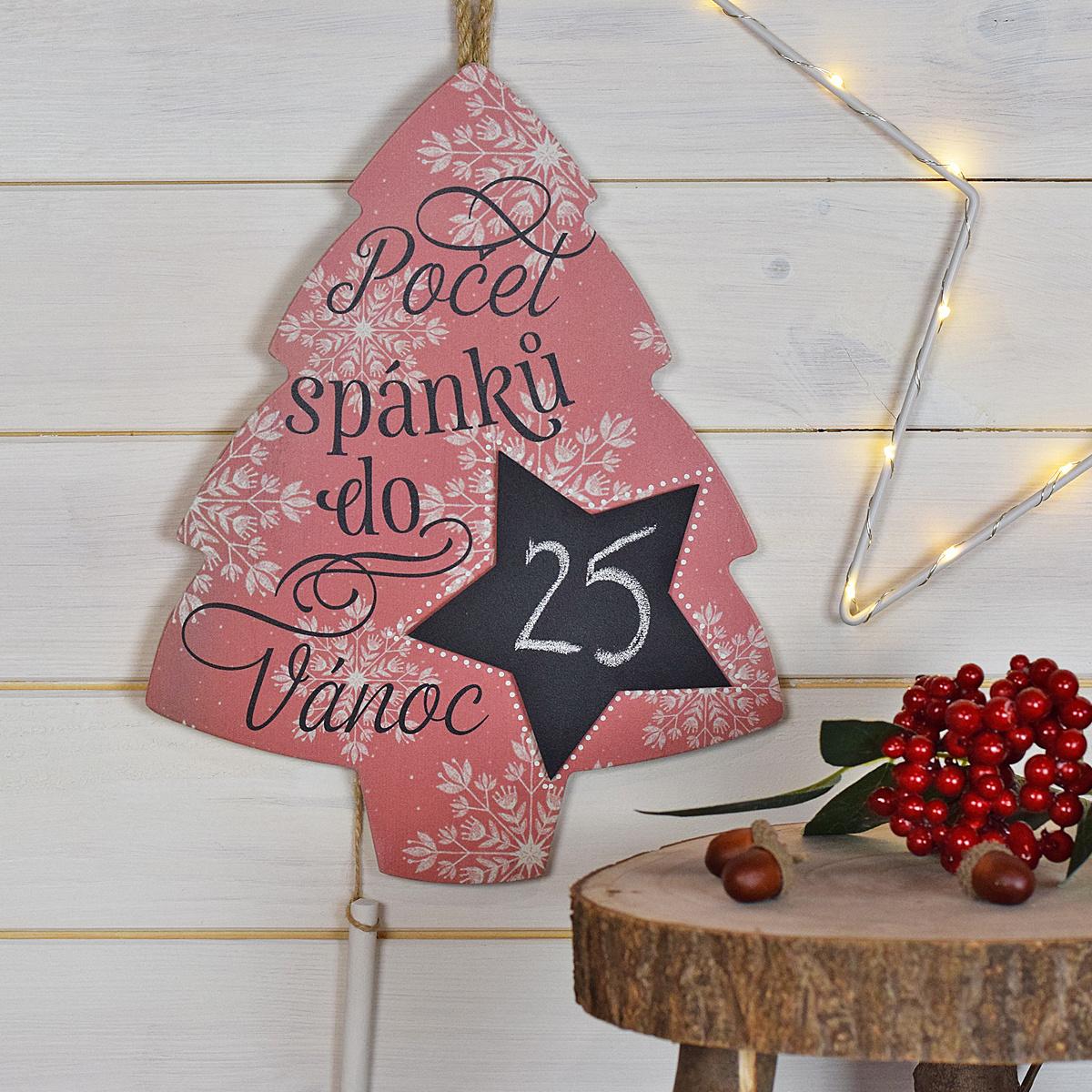HOUSEDECOR Počet dní do Vánoc - Stromeček - červený