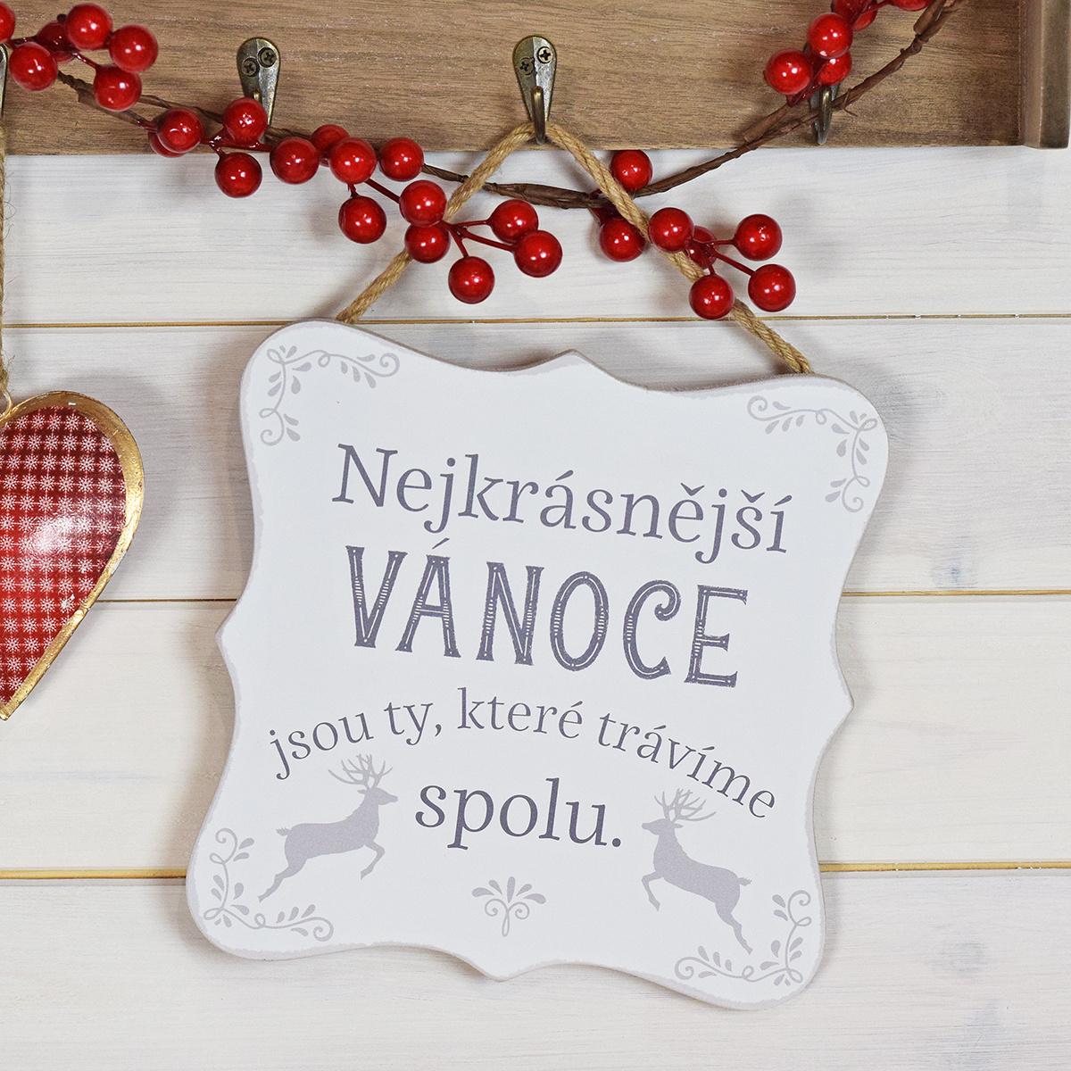 HOUSEDECOR Cedulka - Nejkrásnější Vánoce trávíme spolu ...