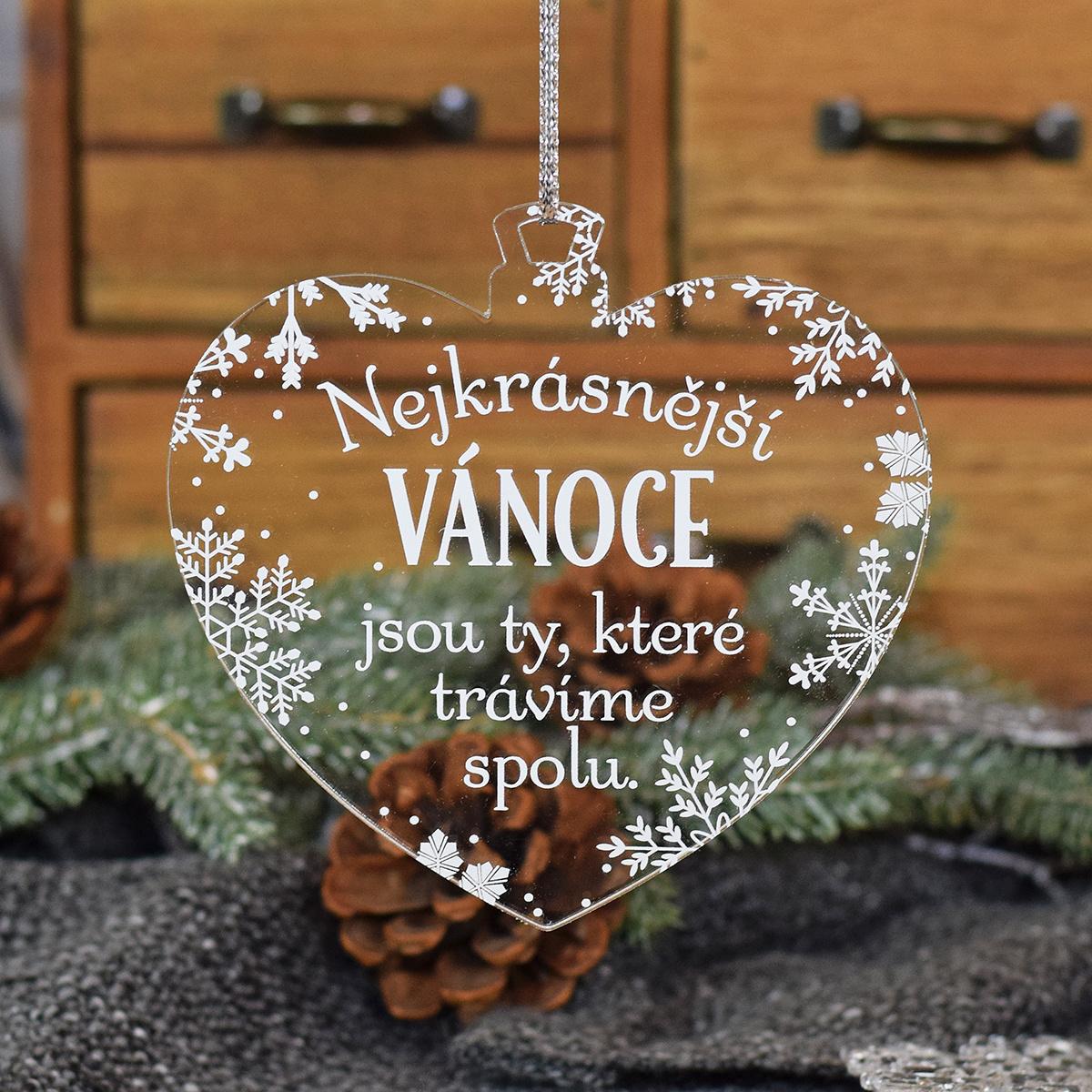 HOUSEDECOR Baňka s vločkama - Nejkrásnější Vánoce