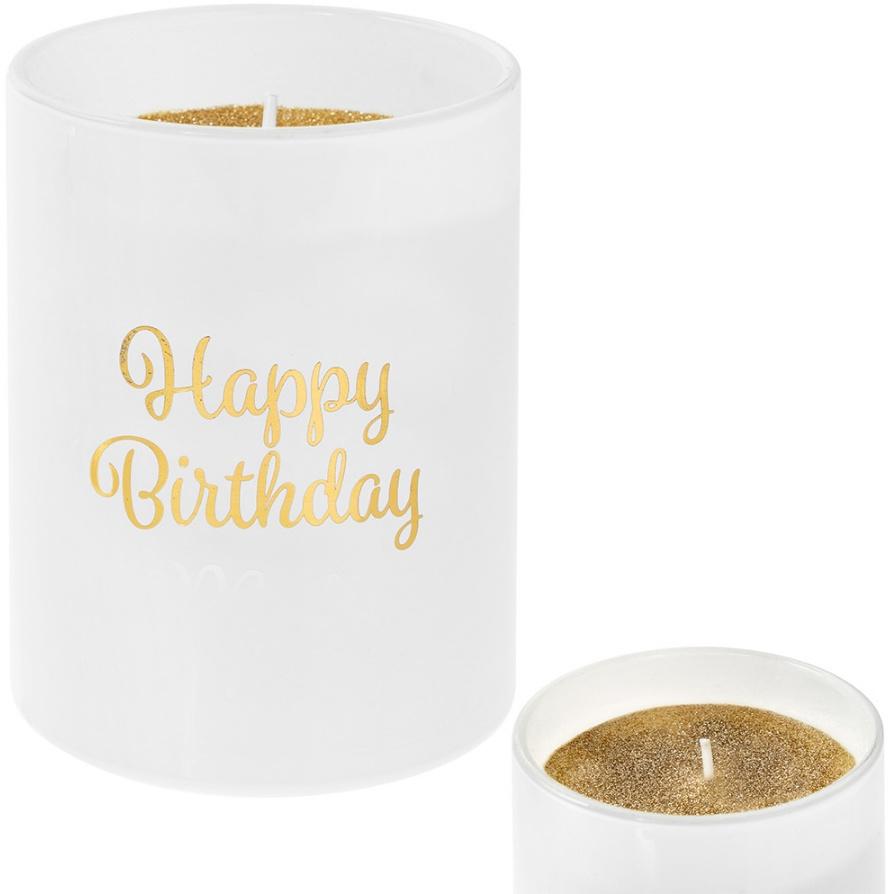 Svíčka Happy Birthday