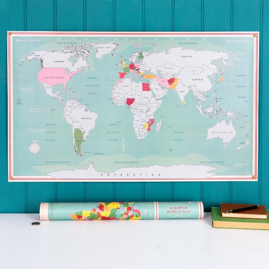 Cestovatelská mapa světa