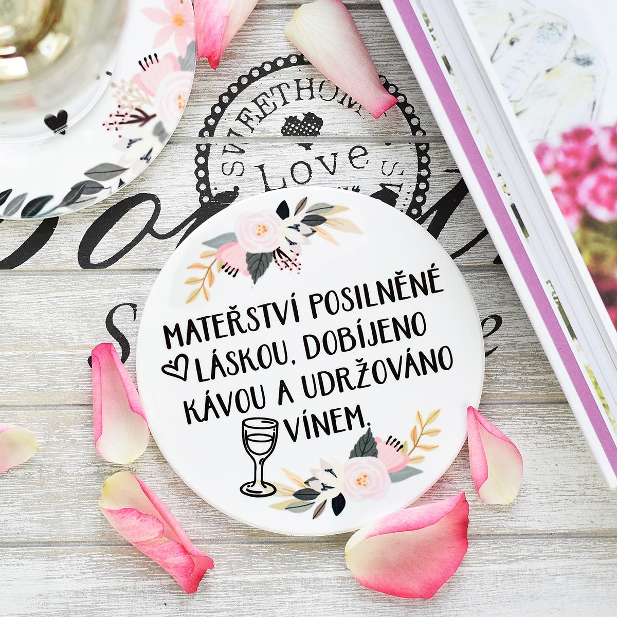 """HOUSEDECOR Podtácek - """"Mateřství a víno"""""""