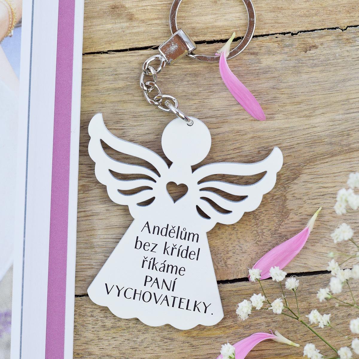 HOUSEDECOR Klíčenka anděl - Paní vychovatelka