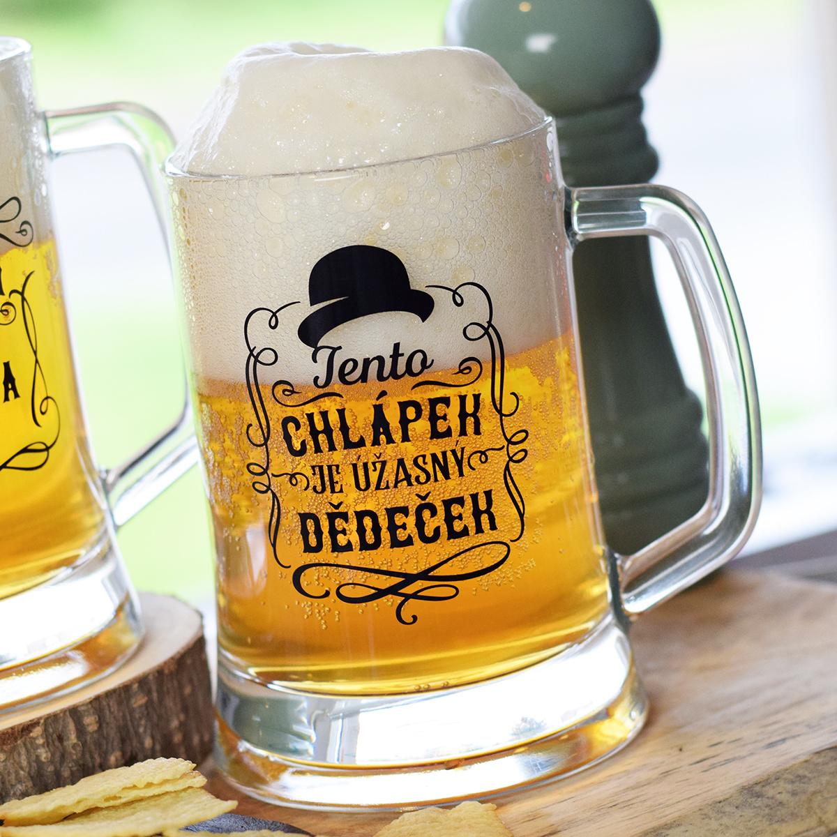 HOUSEDECOR Pivní džbánek pro dědečka - Úžasný dědeček