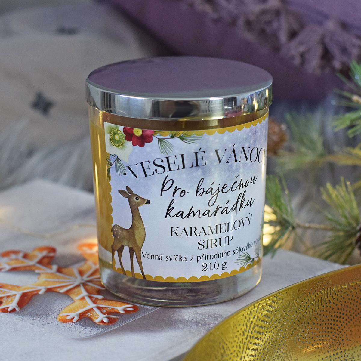 HOUSEDECOR Vánoční svíčka - pro báječnou kamarádku