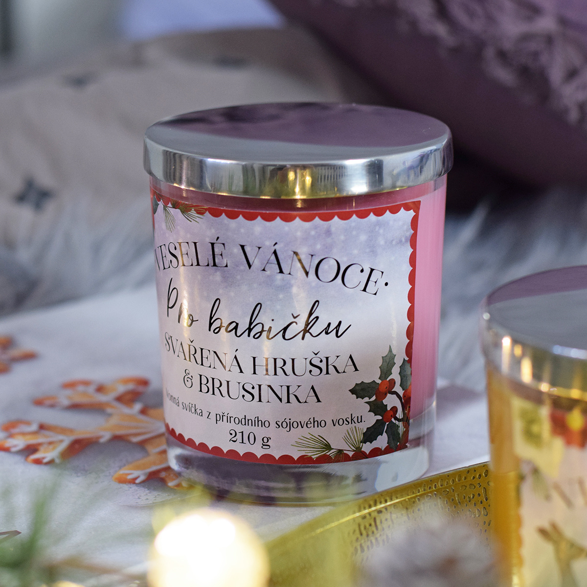 HOUSEDECOR Vánoční svíčka - pro babičku