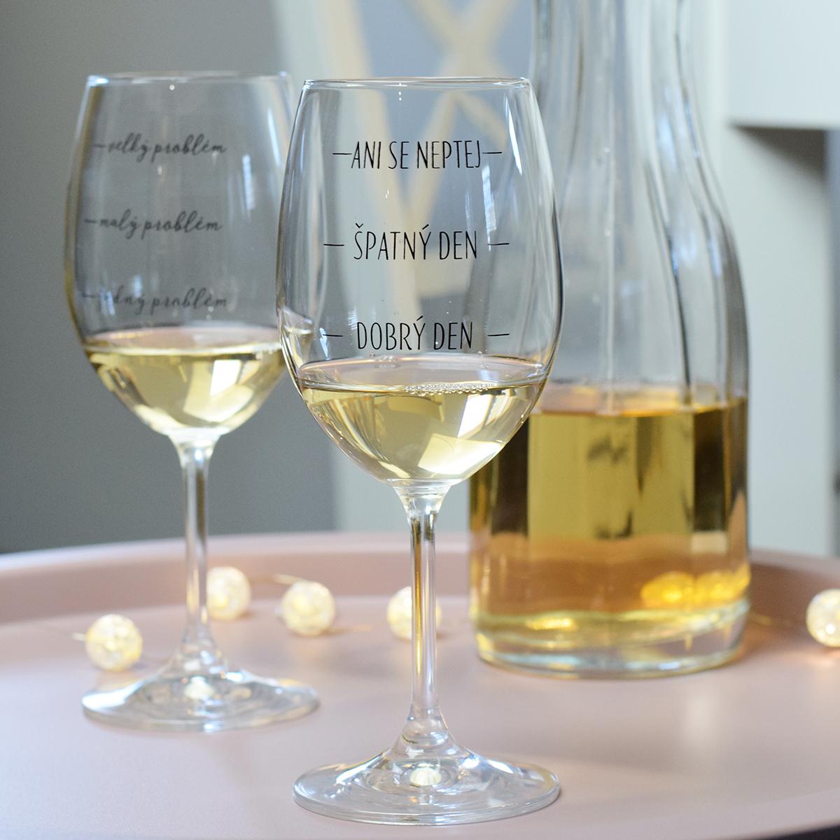 HOUSEDECOR Sklenice na víno - Dobrý den