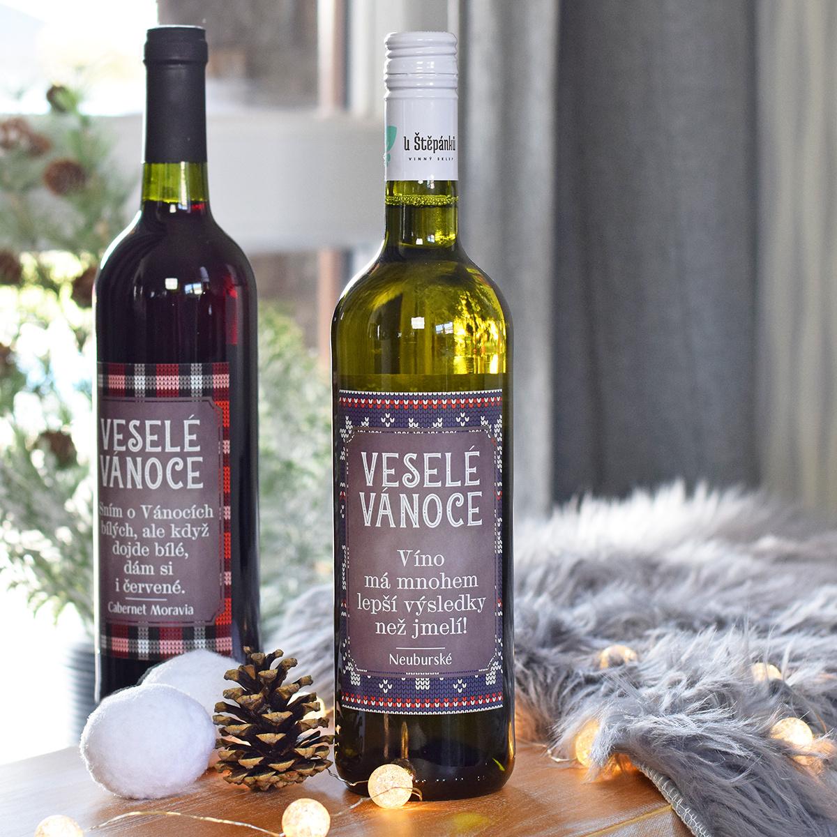 """HOUSEDECOR Vánoční víno - """"Lepší než jmelí!"""" (BÍLÉ)"""
