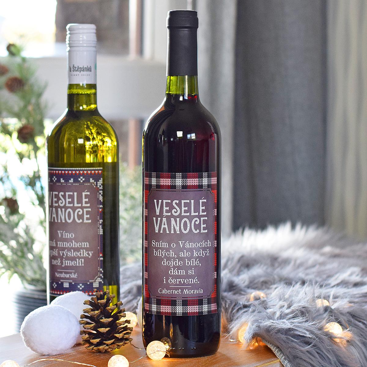 """HOUSEDECOR Vánoční víno - """"Dám si i červené."""" (ČERVENÉ)"""