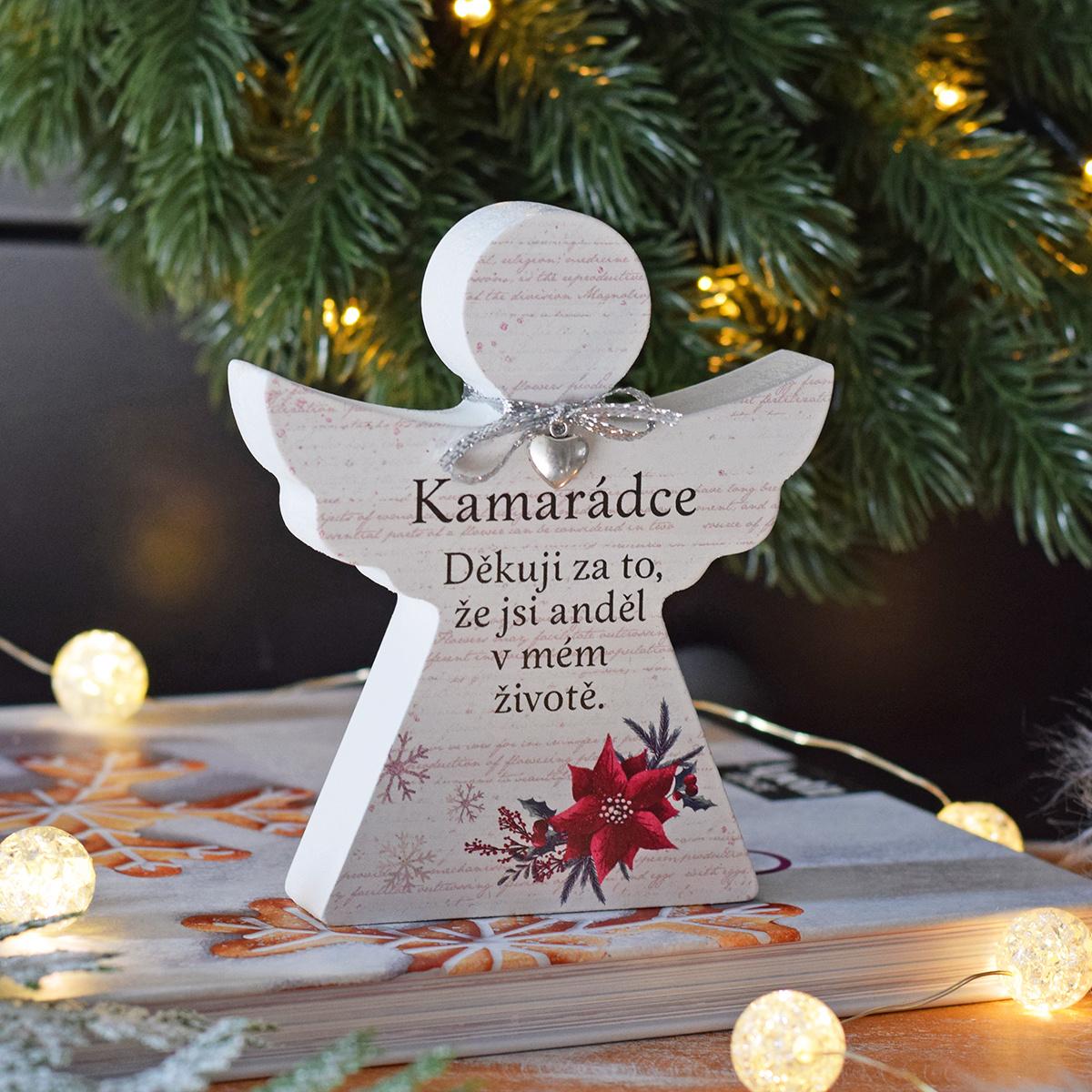 """HOUSEDECOR Vánoční anděl - """"Kamarádce"""""""