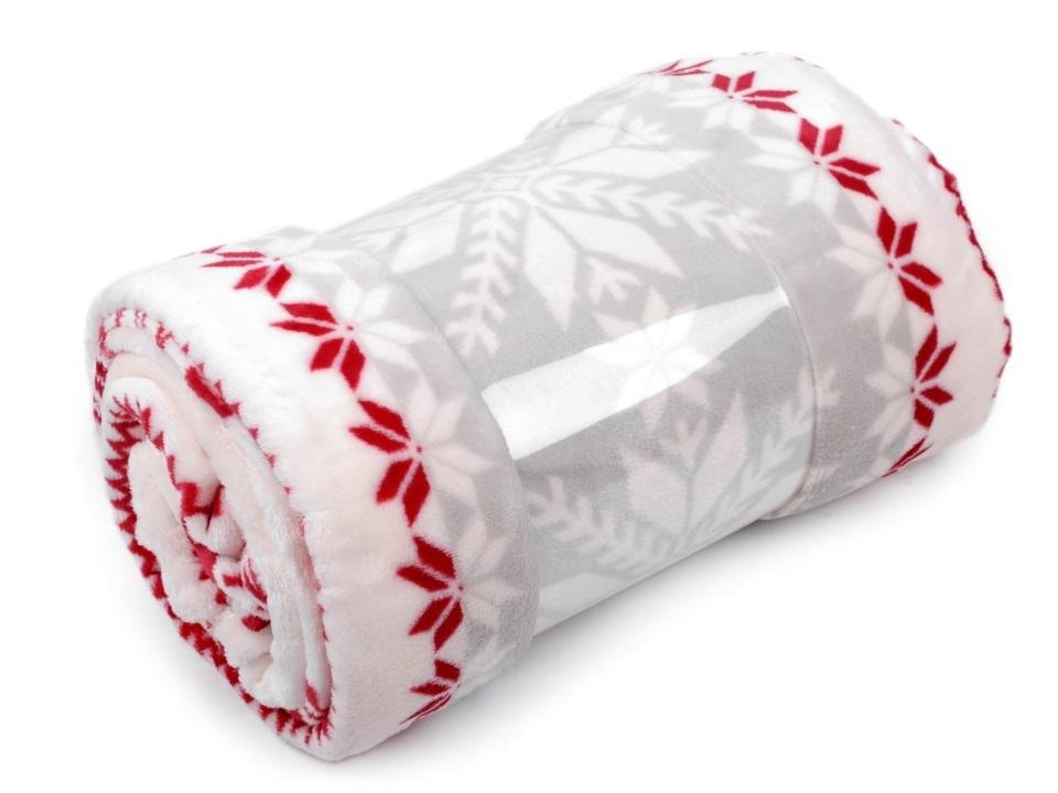 Fleecová deka - světle šedá