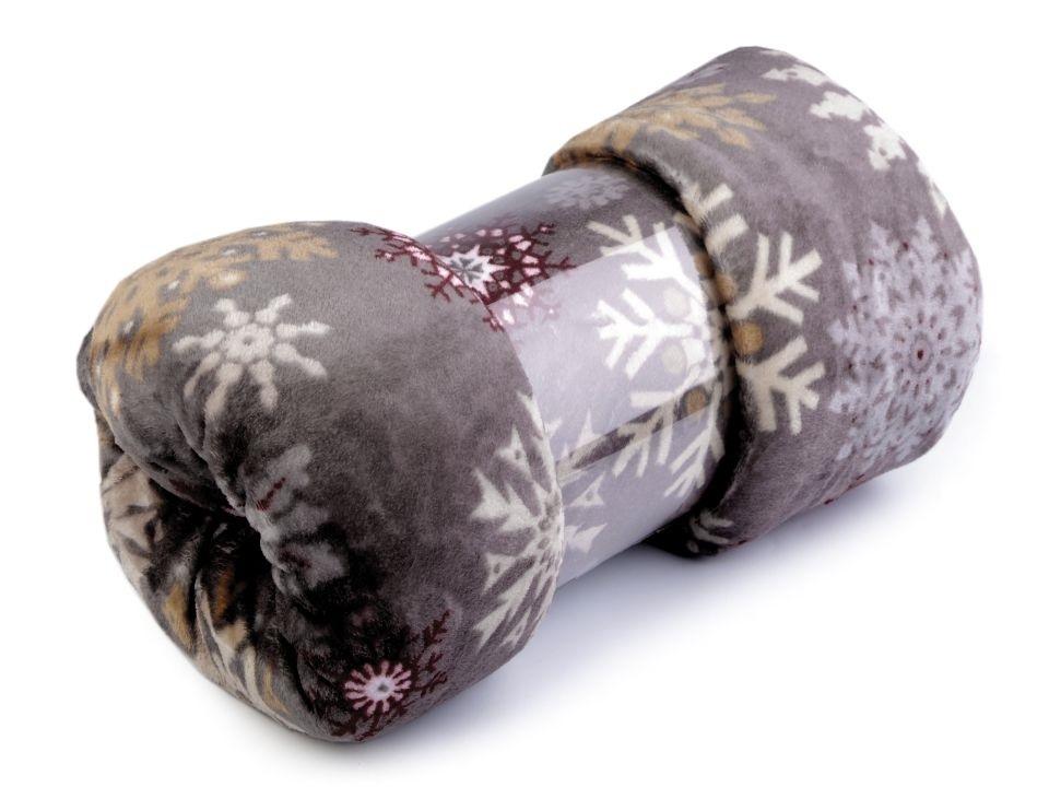 Fleecová deka - šedá