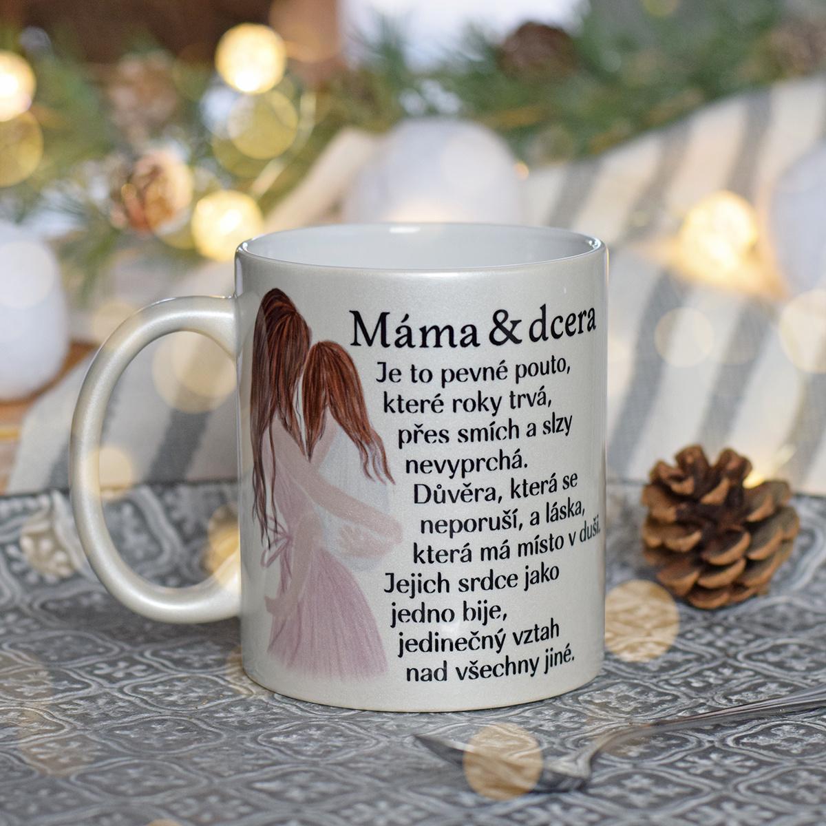 HOUSEDECOR Perleťový hrnek Matka & Dcera