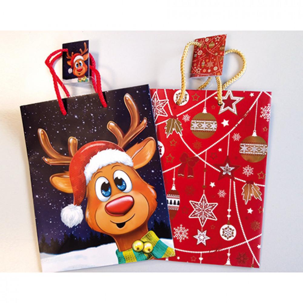 Dětské dárkové tašky / 2 motivy 23x18 cm - červená velikost