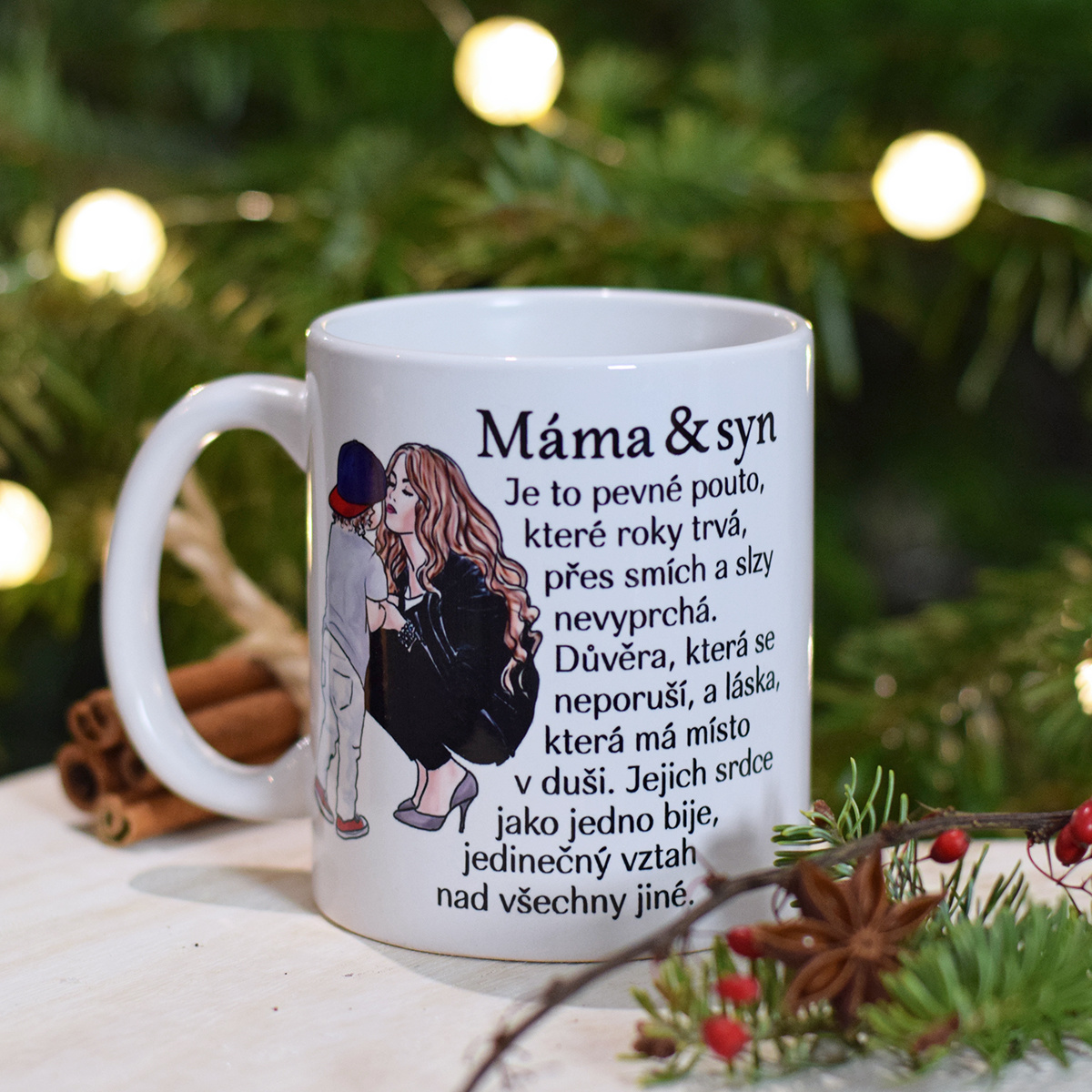 HOUSEDECOR Hrnek - Máma a syn - obrázek