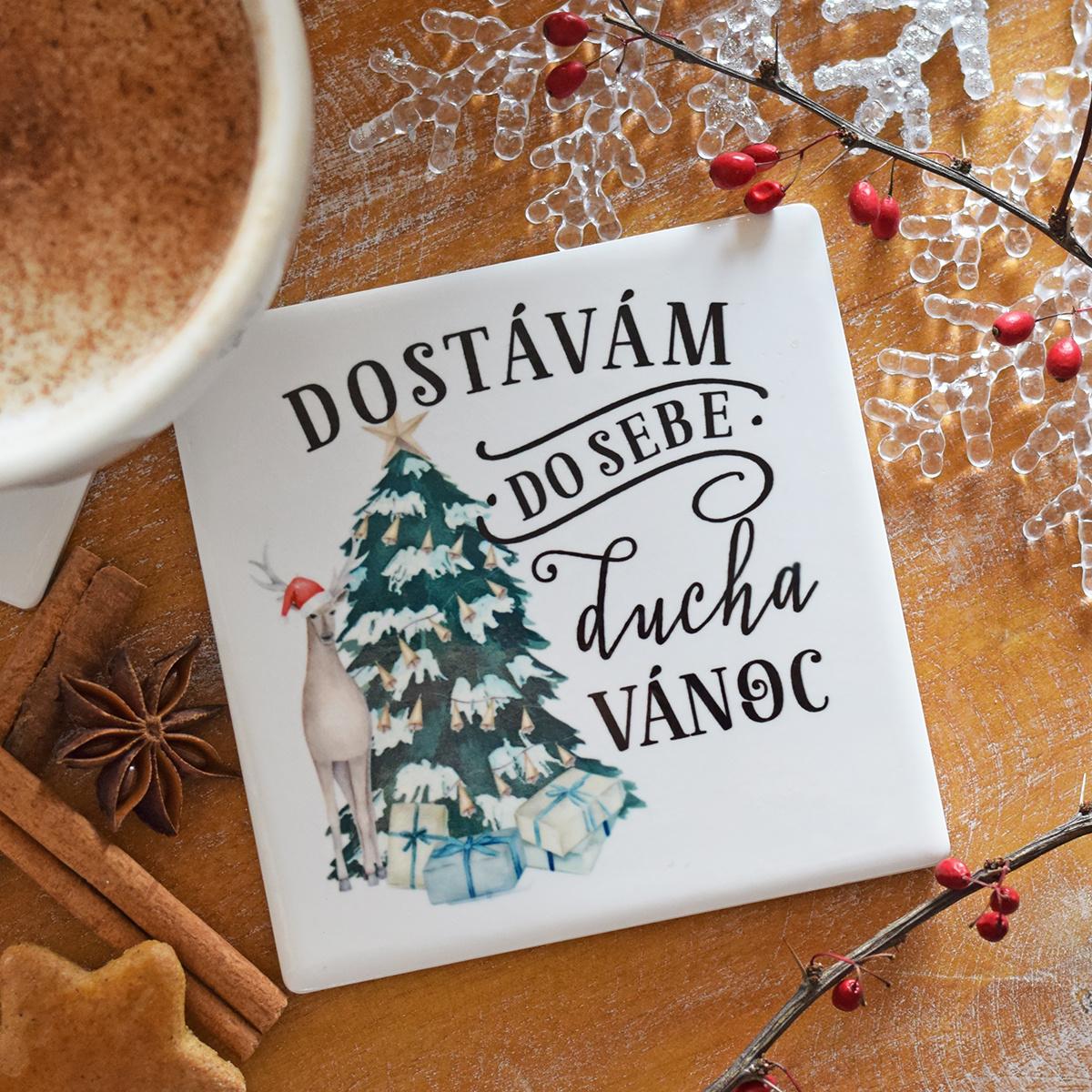 HOUSEDECOR Keramický podtácek - Vánoční duch