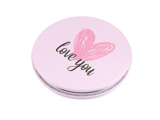 Kosmetické zrcátko - Růžové