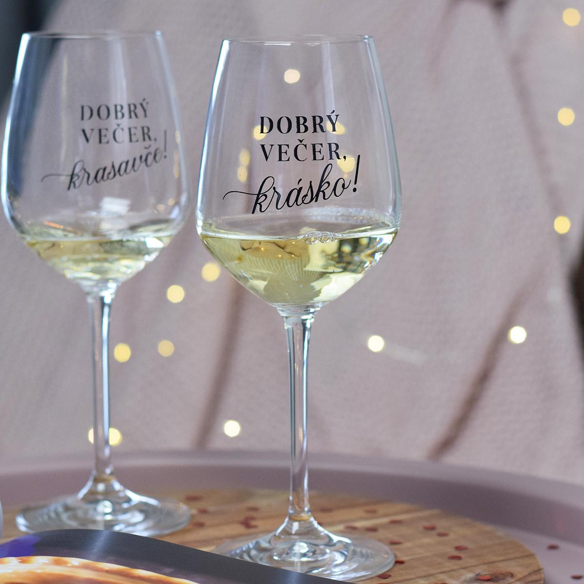 HOUSEDECOR Sklenice na víno - Dobrý večer, krásko!