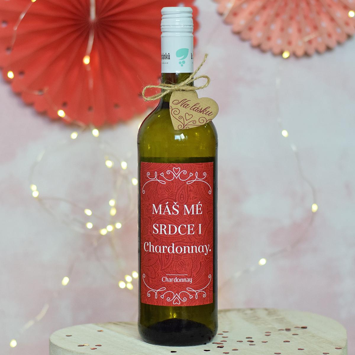 "HOUSEDECOR Víno (EDICE PLNÁ LÁSKY) - ""Máš mé srdce i Chardonnay."""