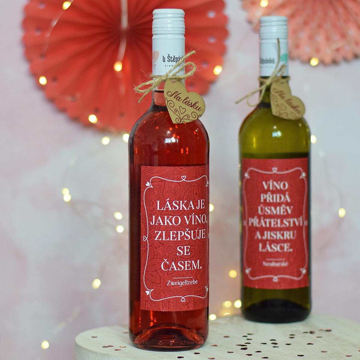 """HOUSEDECOR Víno (EDICE PLNÁ LÁSKY) - """"Láska je jako víno."""""""