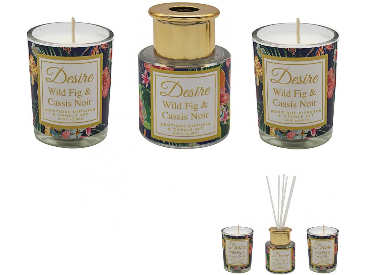 Difuser - Wild Fig - desire edice (svíčky+difuser)