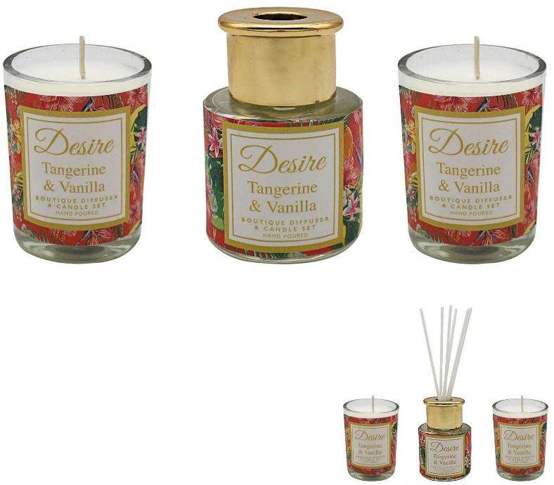 Difuser - Desire edice - Tropický citron(svíčky+difuser)