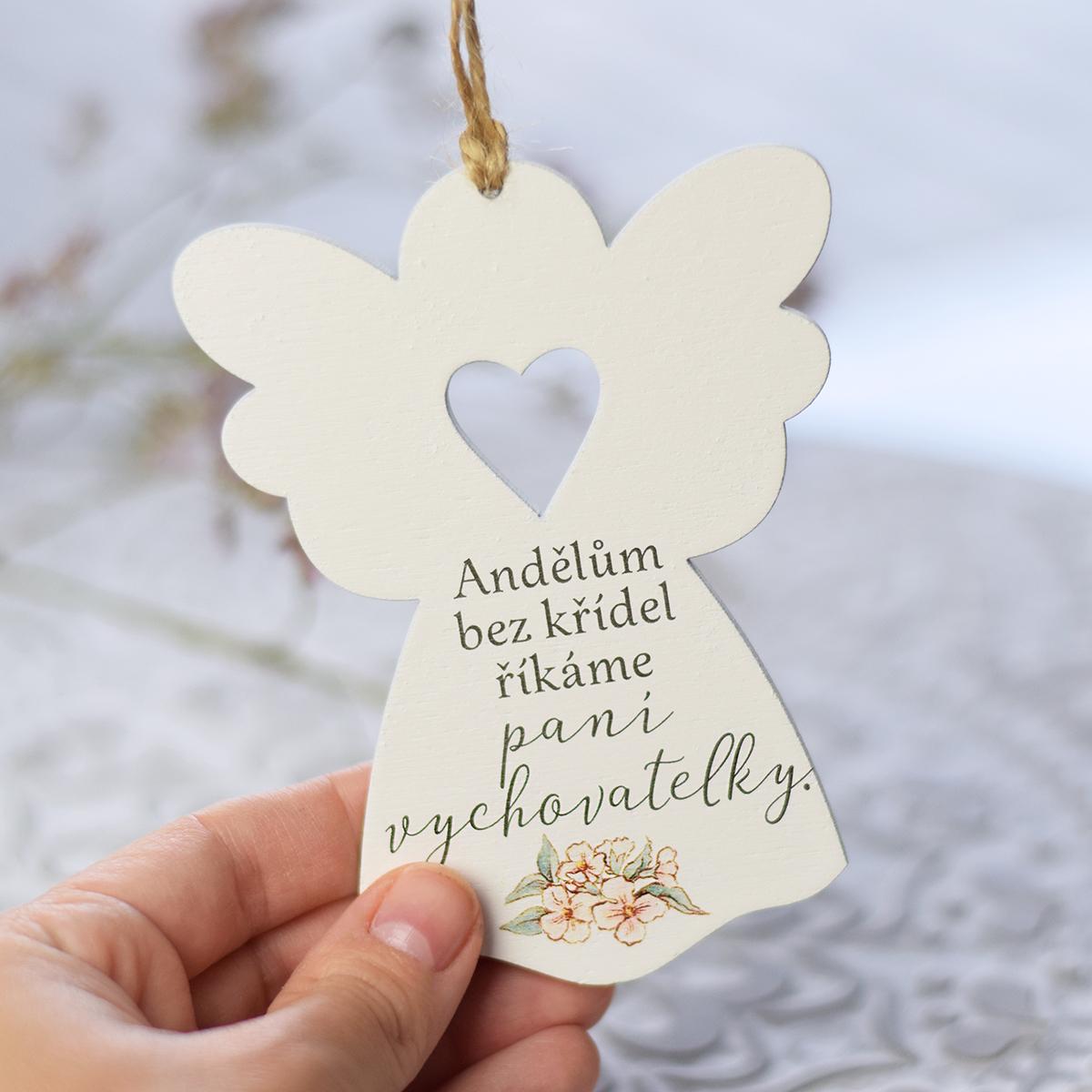 HOUSEDECOR Anděl se srdcem - Paní vychovatelce