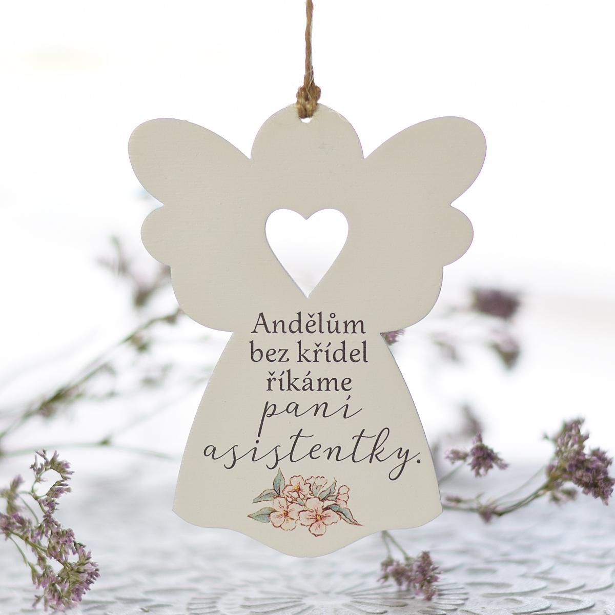 HOUSEDECOR Anděl se srdcem - Paní asistentce