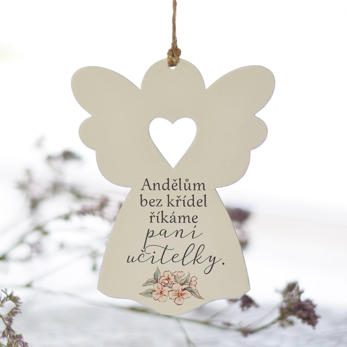 HOUSEDECOR Anděl se srdcem - Paní učitelce