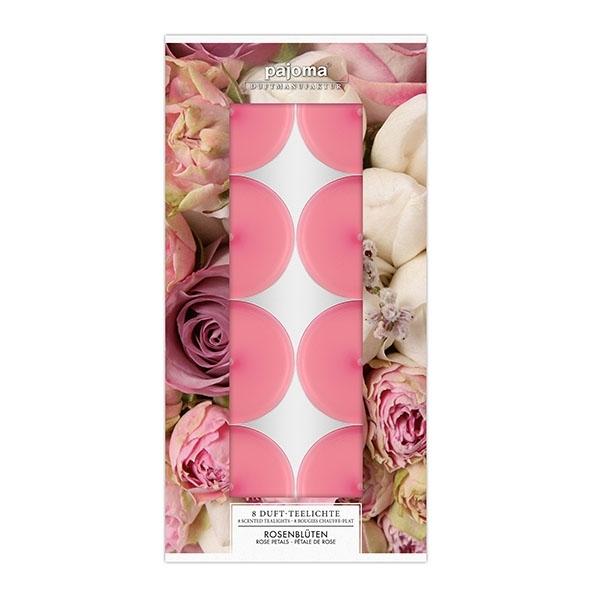 Set vonných čajových svíček - Květy růže