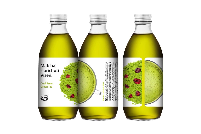 Matcha s příchutí Višeň - Cold Brew Green Tea 330 ml