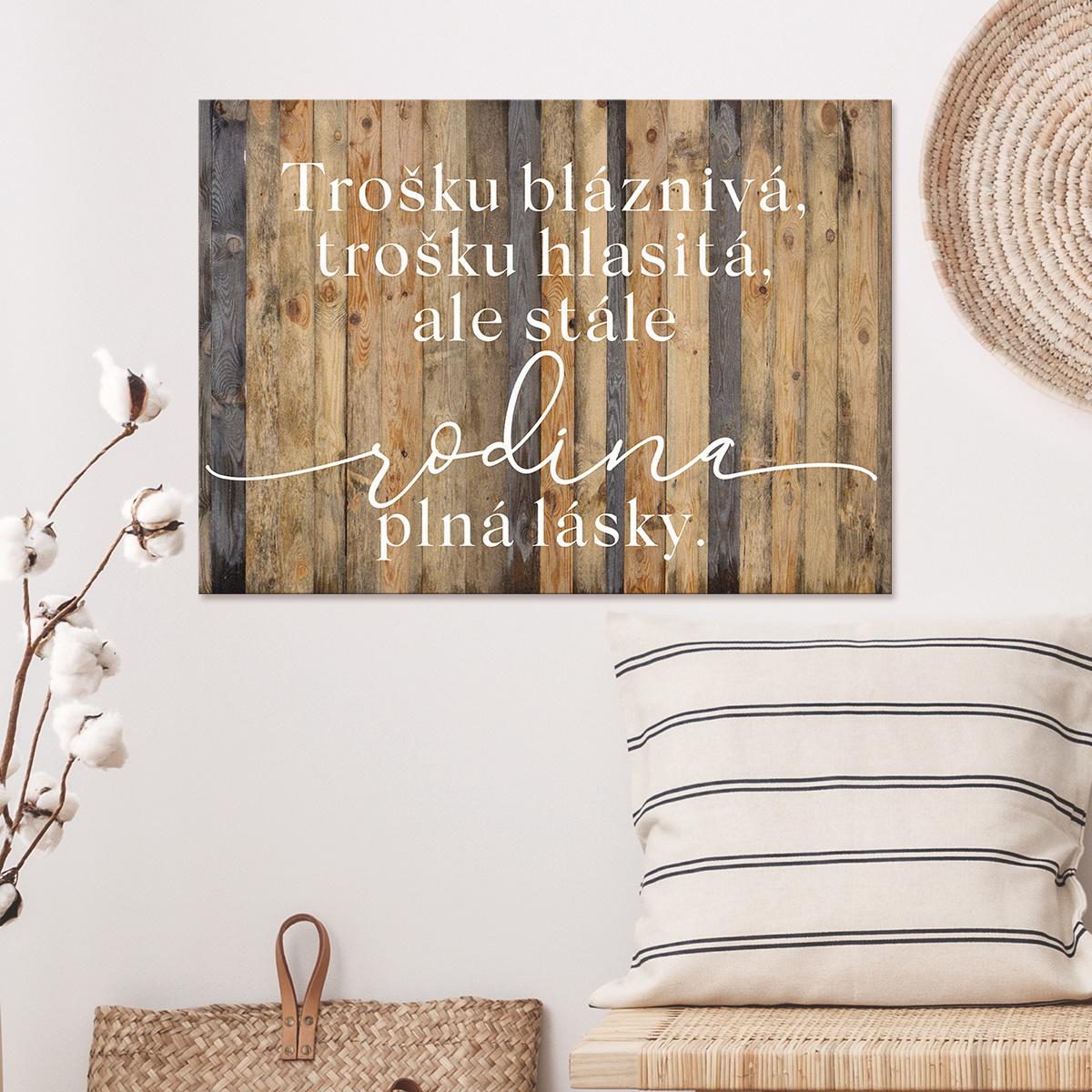 HOUSEDECOR Cedulka - Rodina plná lásky