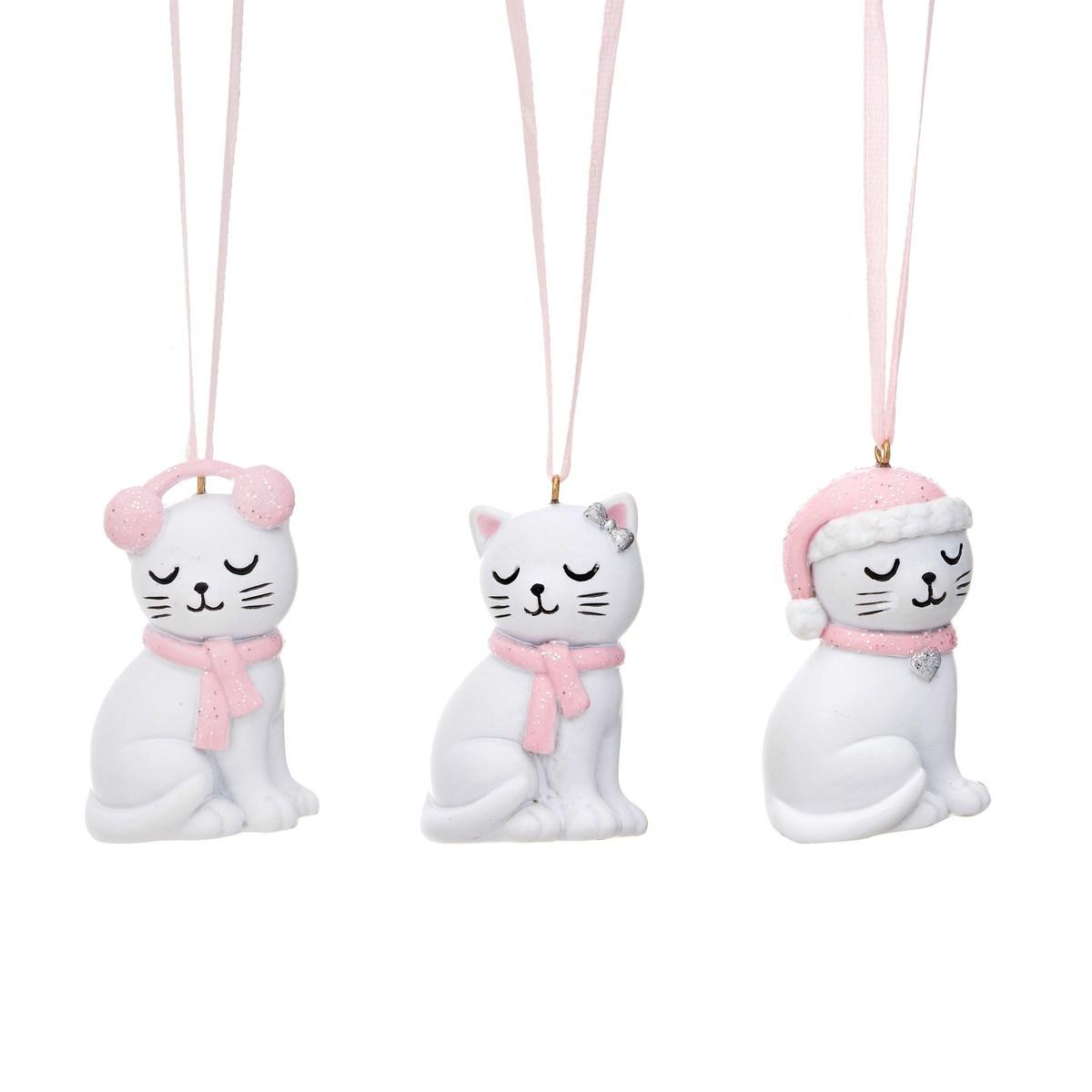 Dekorace na stromeček - kočičky - set 3 ks